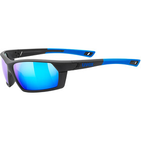 UVEX Sportstyle 225 Glasses, black blue/mirror blue
